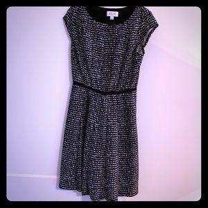 Elle black & white dress